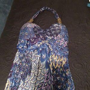Summer halter style maxi dress